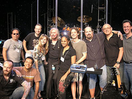 Barry Gibb, John Merchant and group