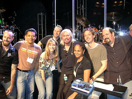 Barry Gibb and group
